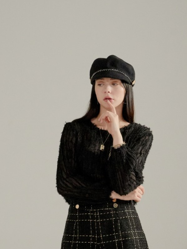 ​​080. Timeless classic Knit  BLACK