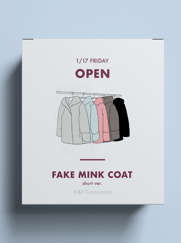 ★Fake mink hoodies coat 제작 페이크 밍크코트 Short ver.