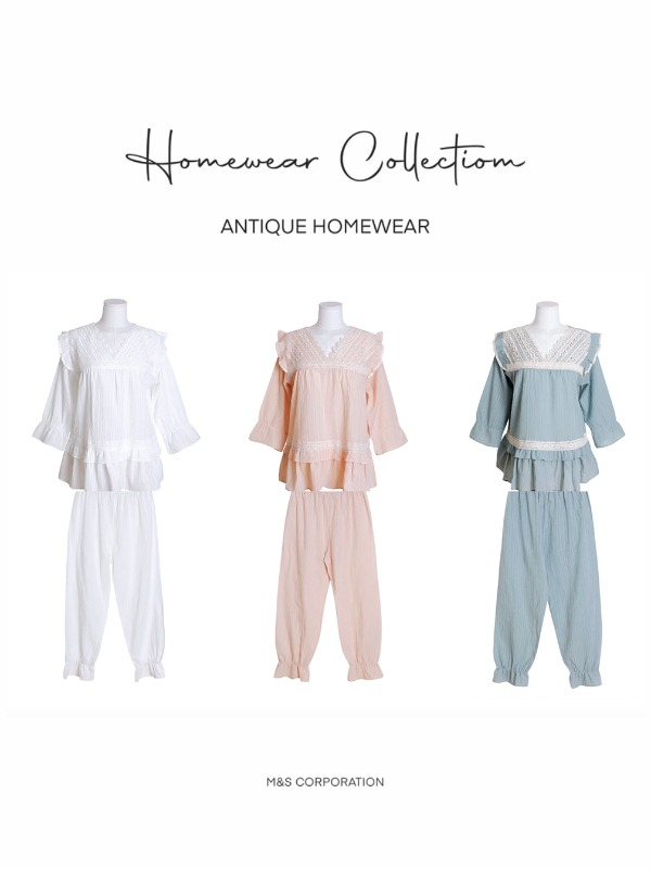 Antique home wear ( two-piece) 앤틱 홈웨어
