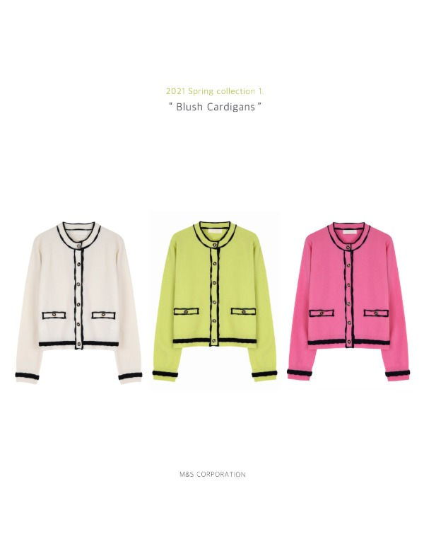 21 Spring Collection 2. Blush cardigans