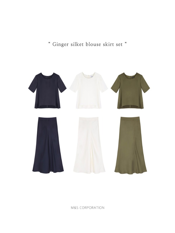 """ Ginger silket two piece set """