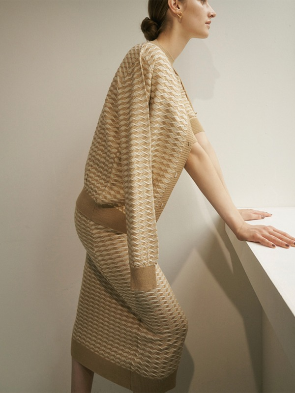 """Texture block knitwear collection"""