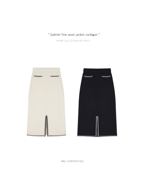 21 Spring Collection. Gabriel fine wool knit skirt